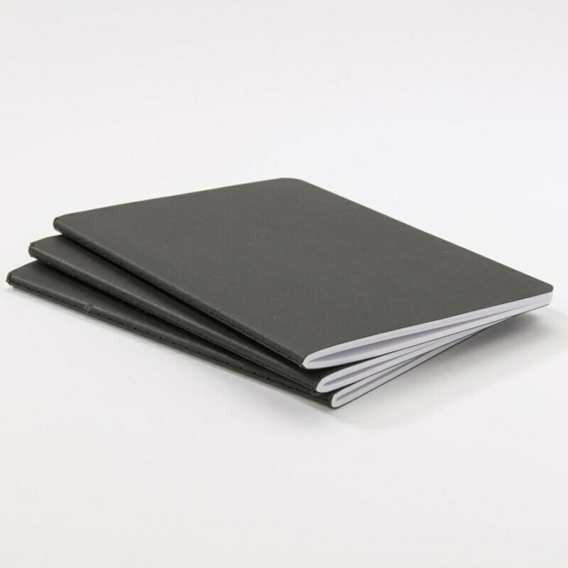3 carnets Noir 40p 12x17cm