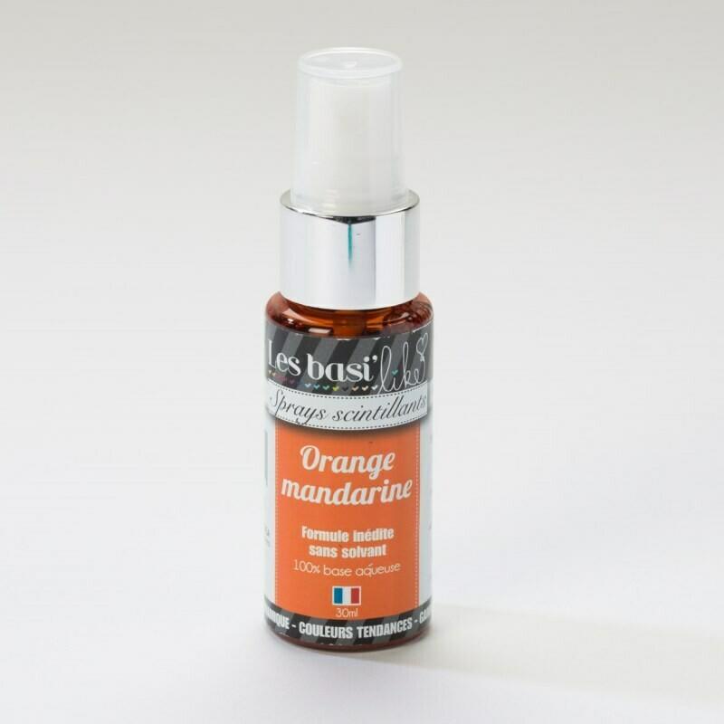 Encres en sprays - couleur Orange mandarine