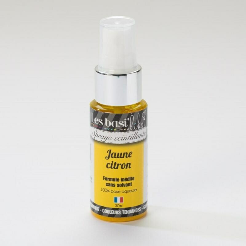 Encres en sprays - couleur Jaune citron