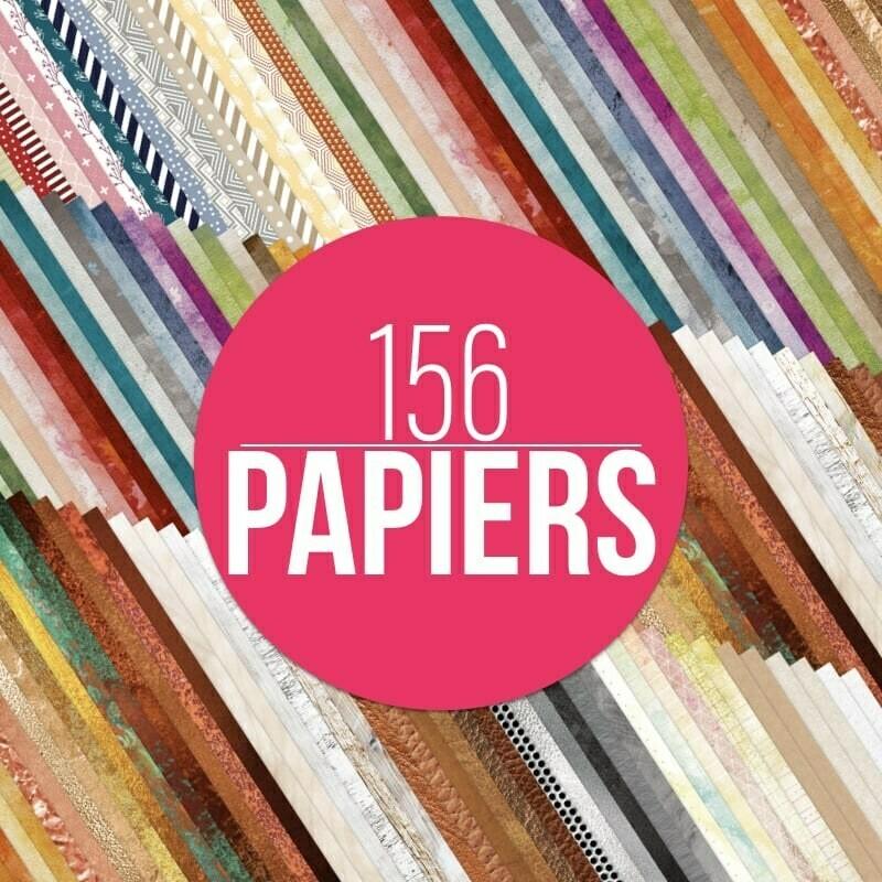 Lot de 156 papiers