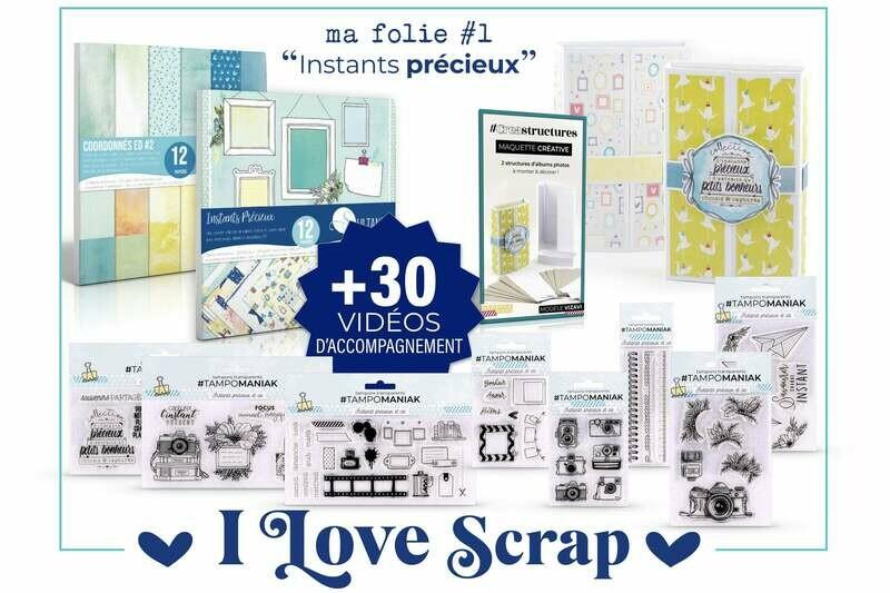 Kit I love scrap instants précieux - 32x32x5cm