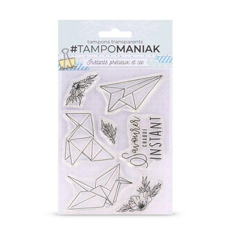 Set de tampons clear Instant origami - 10x15cm