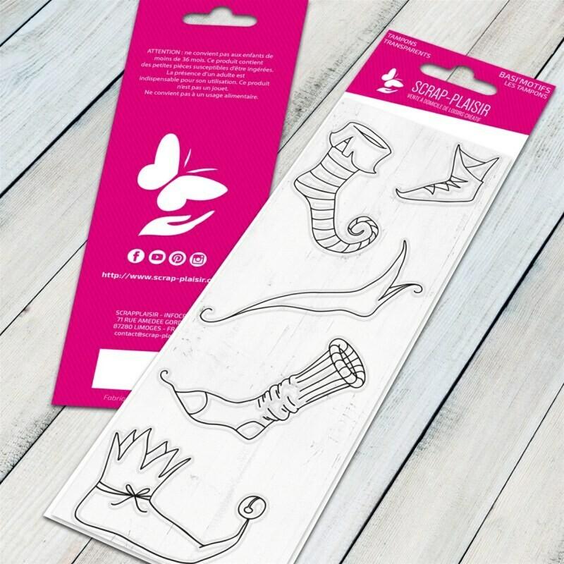 Set de tampons clear chaussettes de lutins - 13x5,5cm