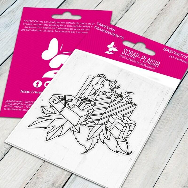 Set de tampons clear cadeaux - 7,5x7cm