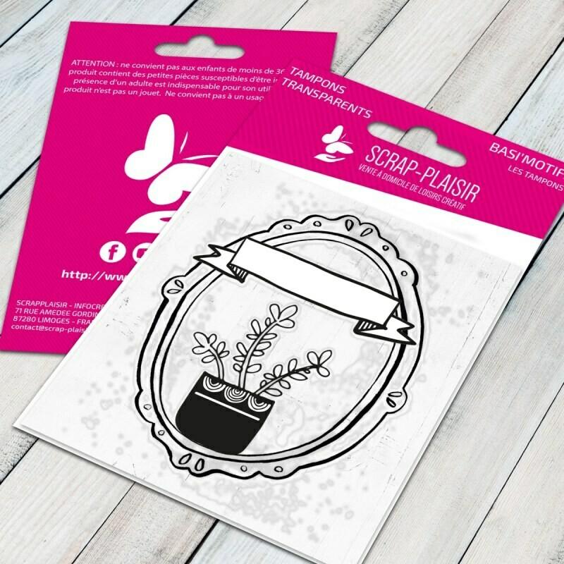 Set de 1 tampons clear portrait de belle plante - 7,5x7cm
