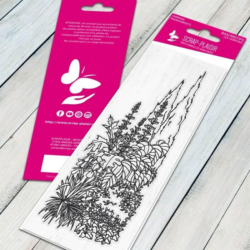 Set de 1 tampons clear jardin anglais - 13x5,5cm