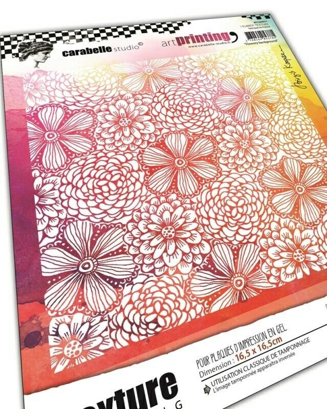 Art Printing Carré : Flowery background by birgit Koopsen