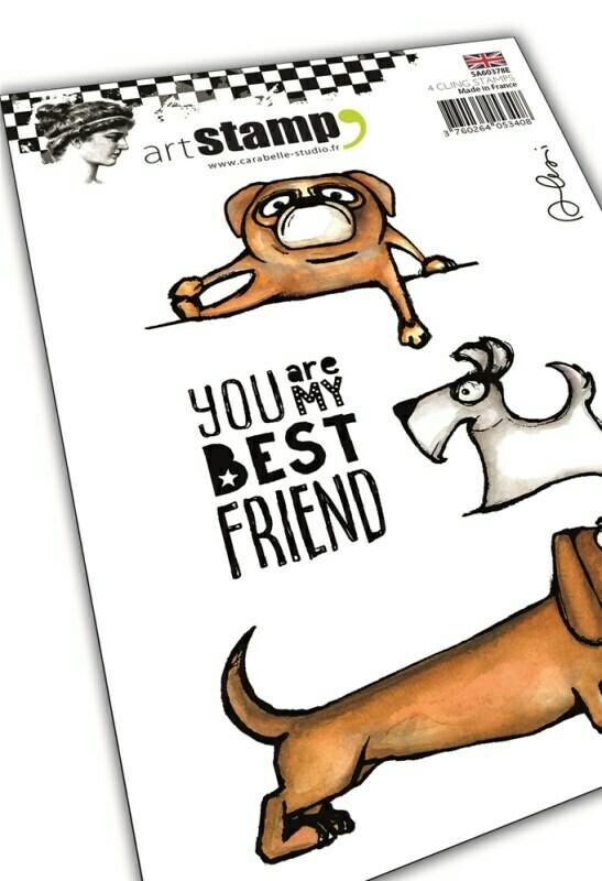 Set de 4 tampons clear A6 : My dog, my best friend by Alexi - 10x15cm