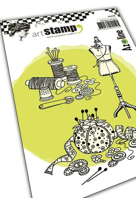 Set de tampons cling A6 : Du fil et des idées by Azoline - 10x15cm