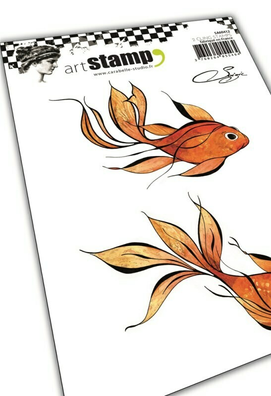 Set de tampons cling A6 : 2 Poissons by Soizic - 10x15cm