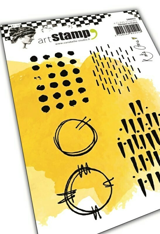 Set de tampons cling A6 : Grungy patterns by Kate Crane - 10x15cm