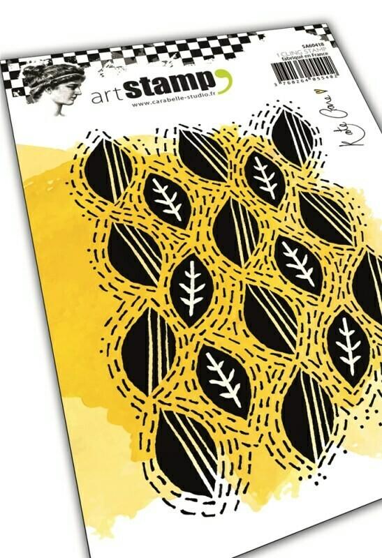 Set de tampons cling A6 : Wonky leaf line by Kate Crane - 10x15cm