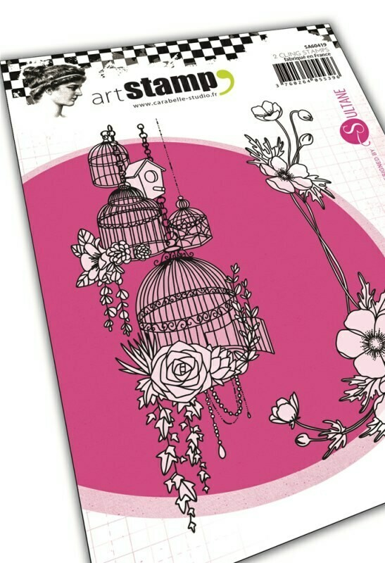 Set de tampons cling A6 : French flowers by Sultane - 10x15cm