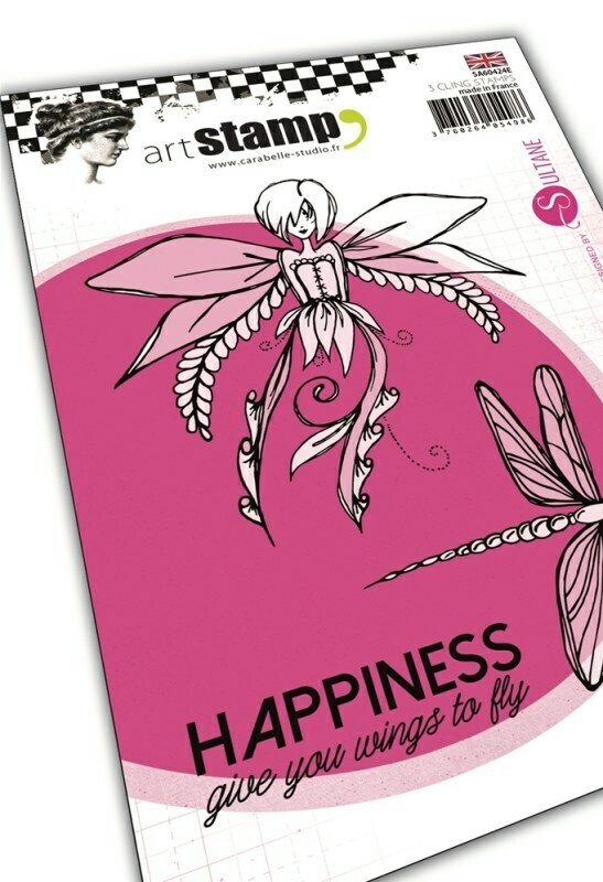 Set de tampons cling A6 : Happiness by Sultane - 10x15cm