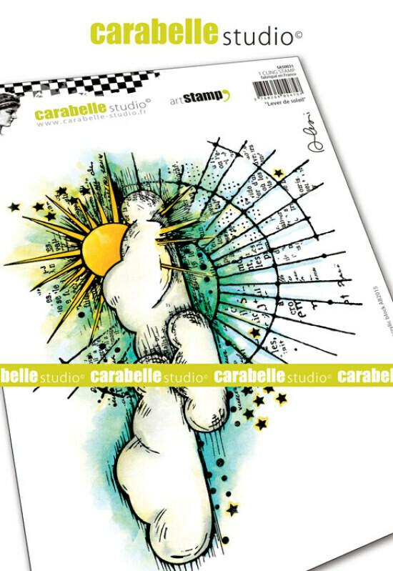 Set de tampons cling A5 : Lever de soleil by Alexi - 20x15cm