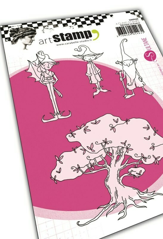 Set de tampons cling A6 : The tree of the wishes by Sultane - 10x15cm