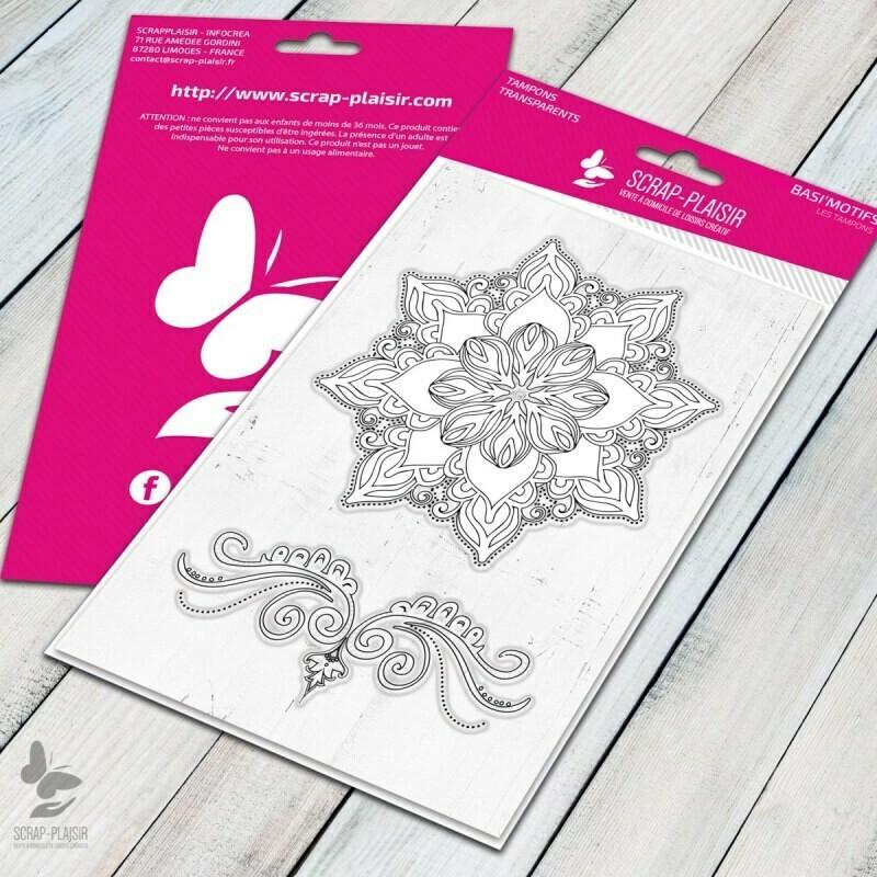 Set de 2 tampons clear fleur de byzance - 10x15cm