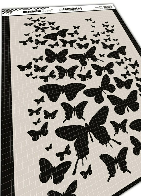 Pochoir A4 : Un vol de papillons