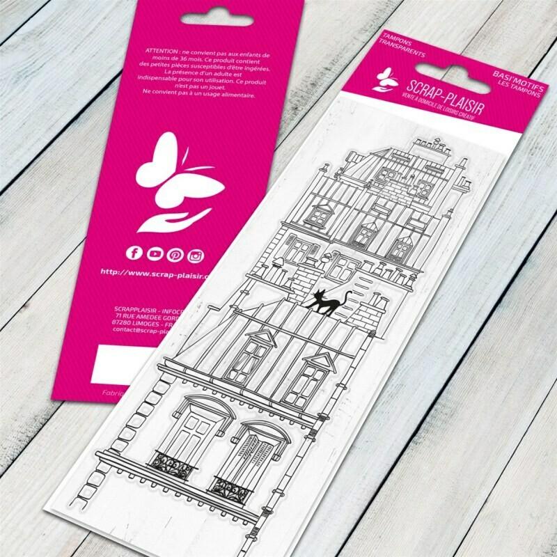 Set de 1 tampons clear les toits de Paris - 13x5,5cm