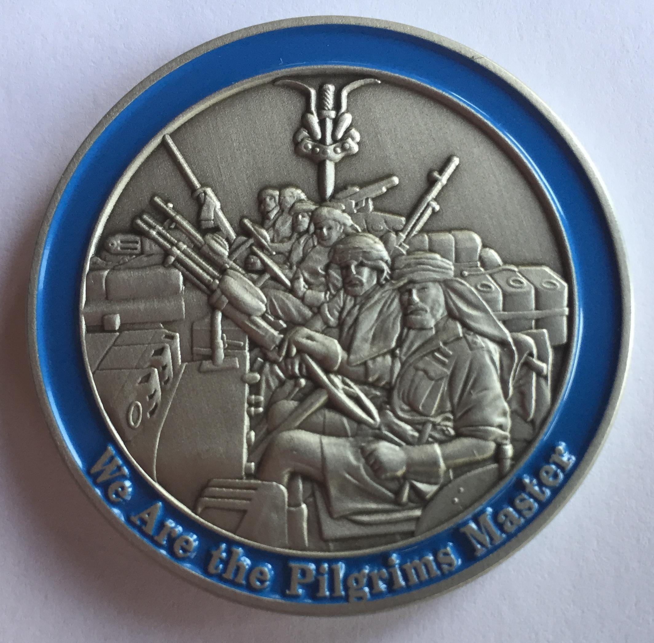 "Pilgrim Challenge Coin "" The RV "" 10A"