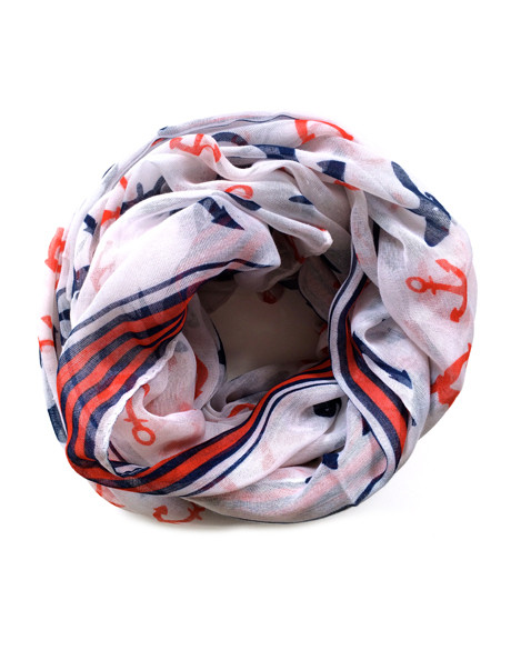 Red White & Blue Anchor Scarf