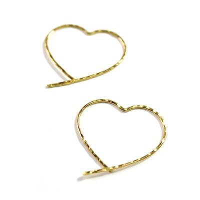 Vermeil Open Heart Earrings