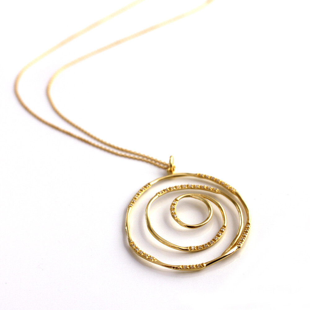 Vermeil Spiral Necklace