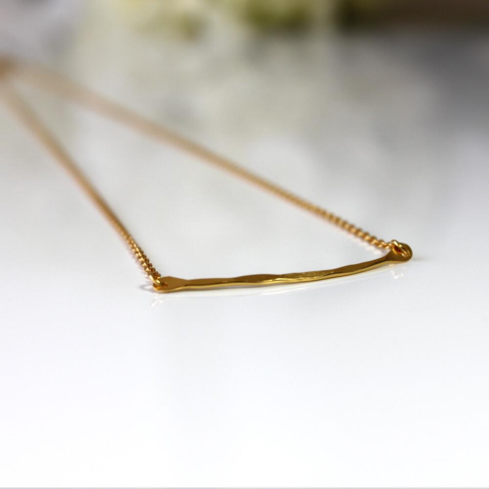 Vermeil Raise The Bar Necklace