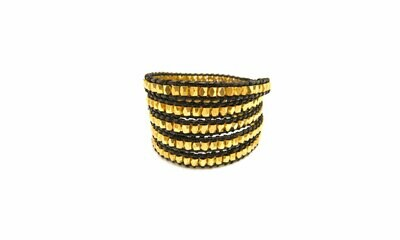 Black & Gold Wrap Bracelet