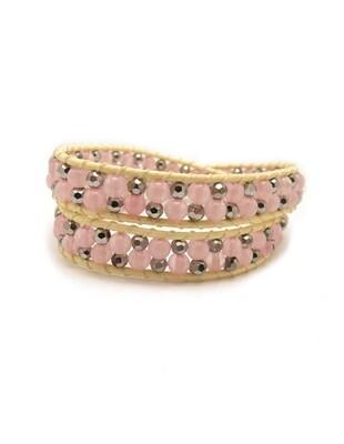 Sugar High Rose Quartz Wrap Bracelet
