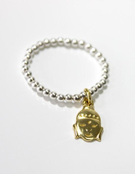 Vermeil & Sterling Silver Buddha Stretch Ring