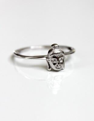 Sterling Silver Buddha Ring Size 7