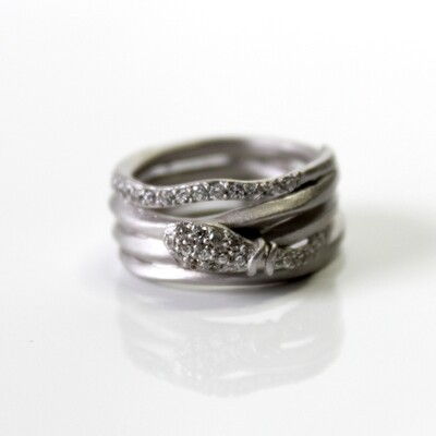Sterling Silver Serpent Coil Ring Size 6