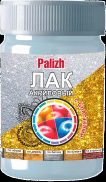 """Лак декоративный с блестками """"Palizh"""" (Золото)"""
