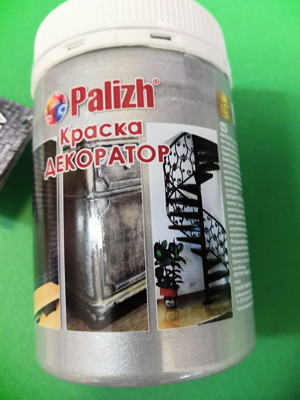 "Краска-колер акриловая ""Palizh"" 172 (Серебро металлик)"