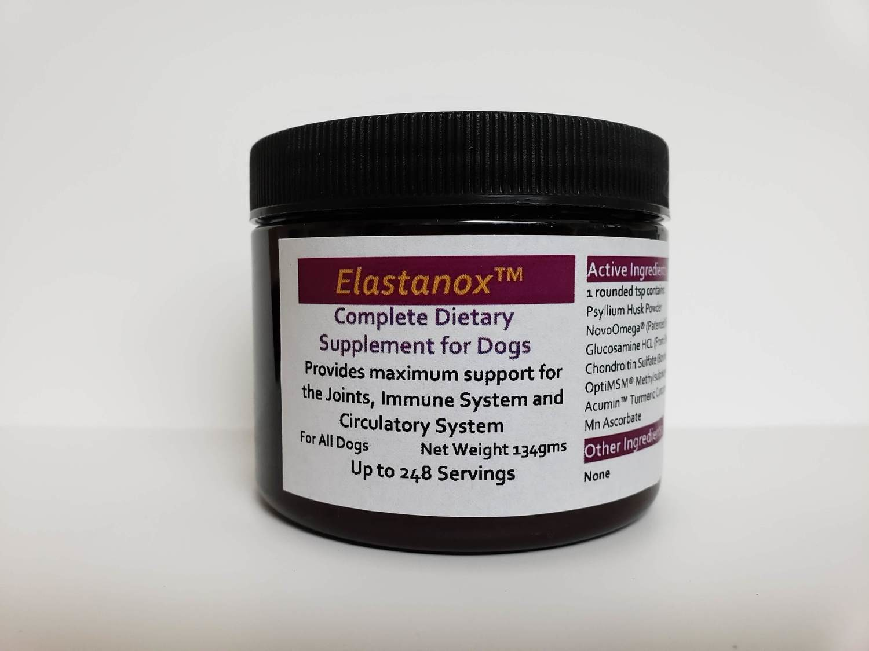 Elastanox Complete Supplement for Dogs (134g Medium Jar)