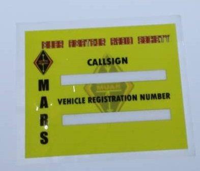 Stiker Cermin Kereta MARS