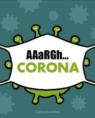 Corona cartoonbundeling (pre-order - je krijgt je exemplaar in juni toegestuurd)