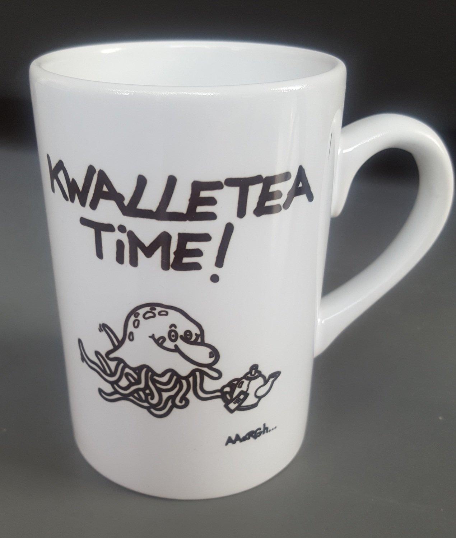 """Mok """"Kwalletea time!"""" - één kwal"""