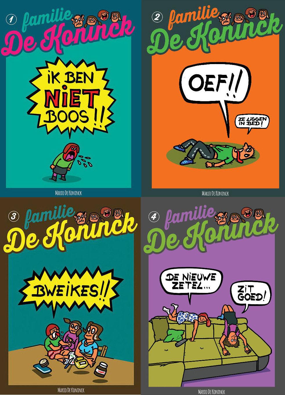 Voordeelpakket 4 strips Familie De Koninck