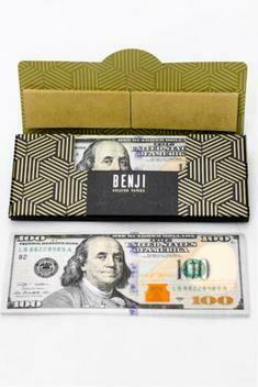 BENJI $100 BILL printed rolling paper + Filter Tips
