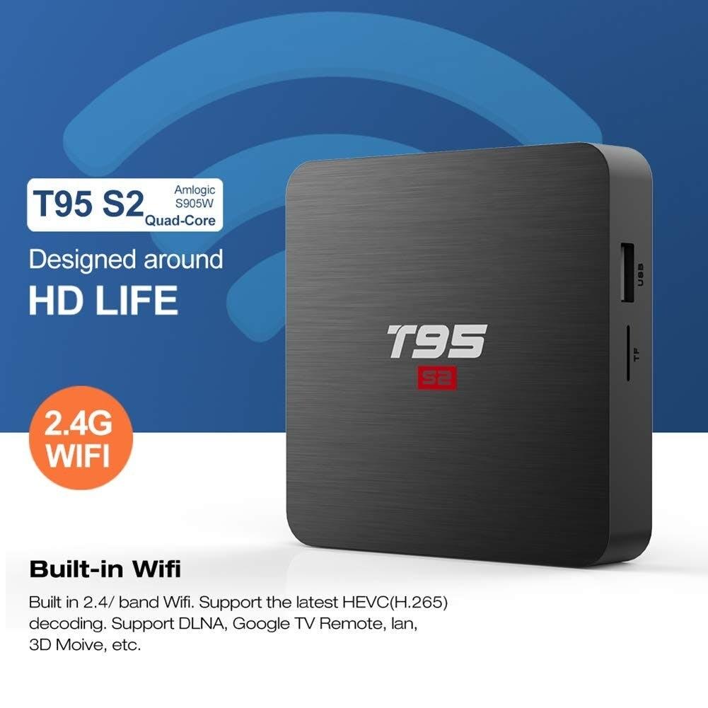 Android Smart TV Box - 4K Quad Core 2GB (Model T95S2)