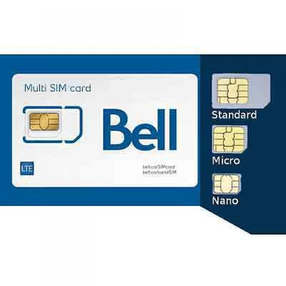 Triple Combo SIM Card for All Bell Cell Phones