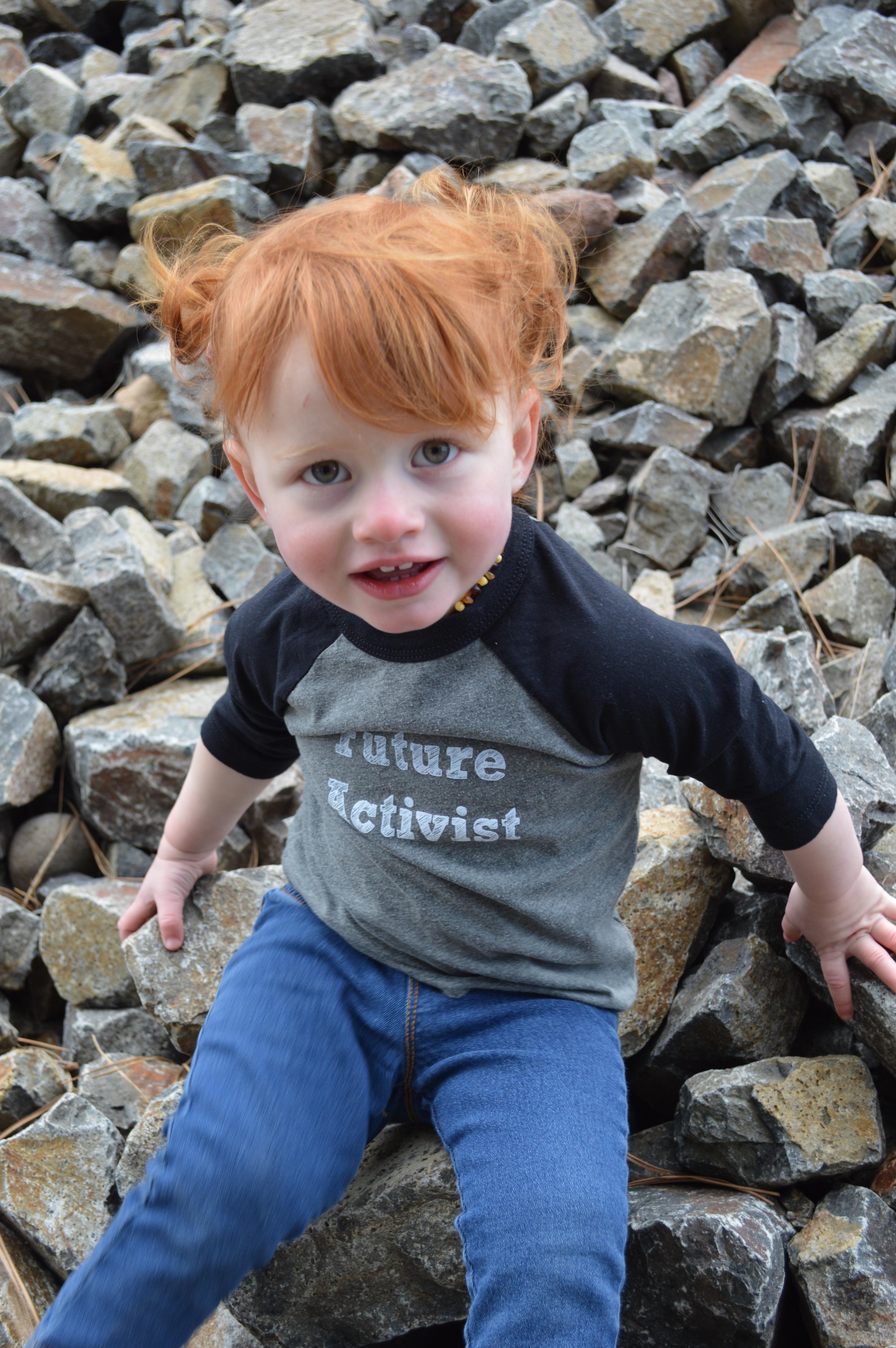 Future Activist Toddler Baseball Tee 00012