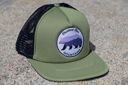 Green Protect Our Mountains Trucker Hat 00004