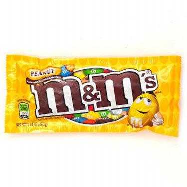 M&MS PEANUT CHOCOLATE CANDY 1 EA $ 1.00 C/U