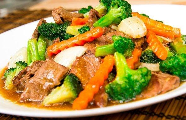 Pollo , Beef , o Carne Ahumada Con Broccoli $7.95