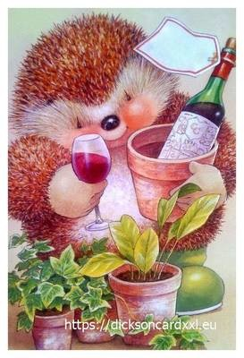 Hedgehog with wine 🍷