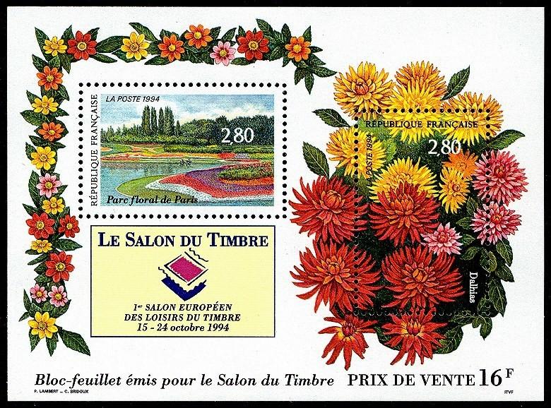 Salon du timbre. 1er Salon européen des Loisirs du timbre 15 - 24 octobre 1994