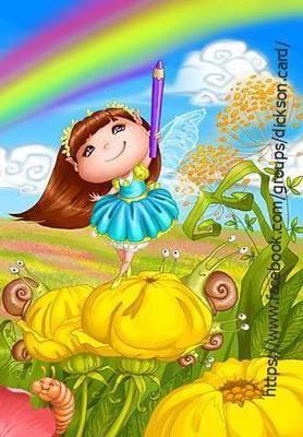NEW.  Rainbow girl fairy